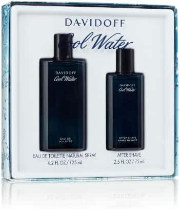 Cool Water By Davidoff For Men Edt Spray 4.2 Oz & Aftershave 2.5 Oz