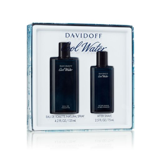 Cool Water By Davidoff For Men Edt Spray 4.2 Oz & Aftershave 2.5 ()