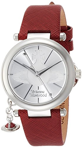 Vivienne Westwood watch ORB POP Silver Dial Red Leather Quartz VV006SSRD Ladies