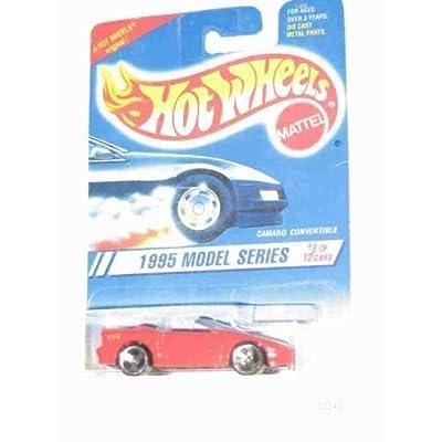 1995 #8 Camaro Convertible Red Malaysia Yellow Hot Wheels Logo 3 Spoke Wheels #344 Mint Hot Wheels: Toys & Games