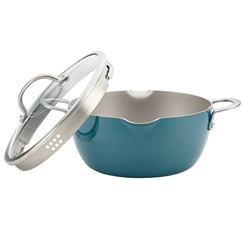 Ayesha Curry 10564 Home Collection Straining Casserole, 5.5 quart, Twilight Teal by Ayesha Curry (Image #3)