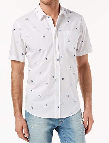 American Rag Mens Large Snowcone Button Down Shirt White L