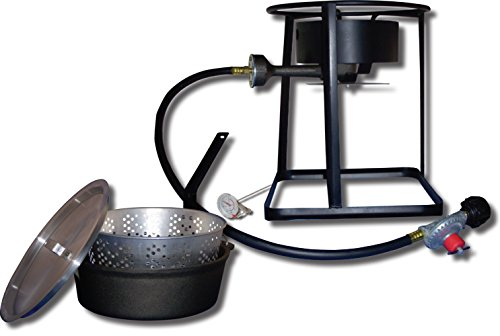 - King Kooker 1650 16-Inch Outdoor Propane Burner with Cast Iron Dutch Oven
