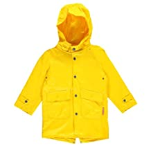 Wippette Little Boys Solid Hooded Fisherman Raincoat Jacket, Gold, 6