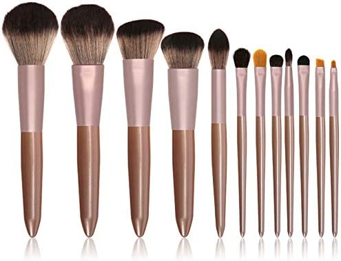 Set de brochas de maquillaje profesional Afunti 12 piezas Pinceles de maquillaje Set Premium Synthetic Foundation Brush Blending Face Powder Blush Concealers Kit de pinceles (Rose Golden): Amazon.es: Belleza