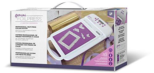 Gemini GEM-FOILP-M-USA Foilpress Heat Press Crafting Foiling Machine, White ()