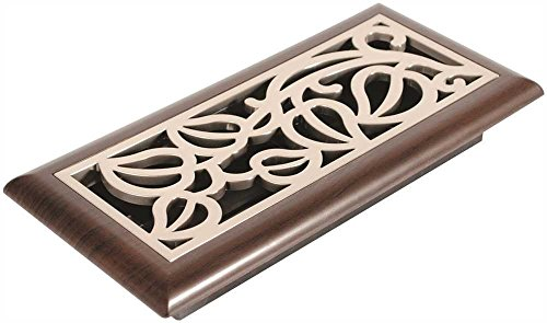 Imperial Manufacturing RG3150 Vine Design Mocha Register, 4''X 10'', Satin Nickel by Imperial