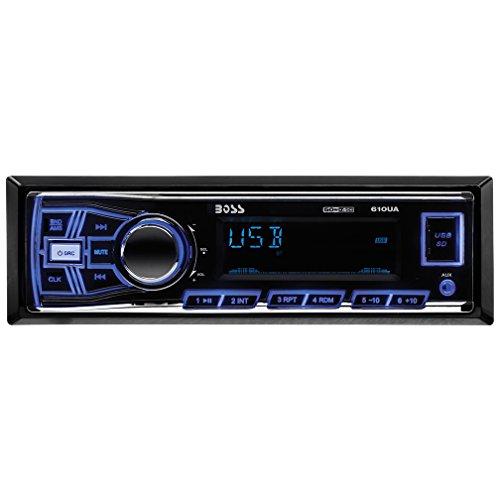 BOSS Audio 610UA Single Din, MP3/USB/SD AM/FM Car Stereo, Wireless Remote - Car Audio Am Fm
