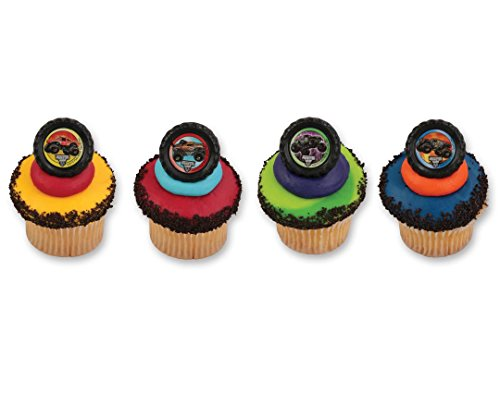 Monster Truck Jam Cupcake Rings - 24 -