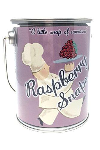 Flathaus Gourmet Raspberry Cookie Snaps 6oz (Cookie Bucket)