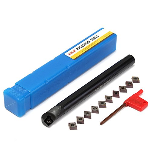 S16Q-SCLCR09 16x180mm Lathe Boring Bar Turning Tool Holder With 10pcs CCMT09T3 Inserts by BephaMart