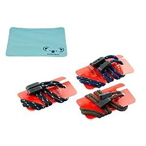 Gorilla Grips Rope Eyewear Retainer Sunglass Strap | Adjustable Eyeglass & Sports Glasses Holder Keeper Lanyard | 3pk Bundle + Cloth, Braided Multi Pack