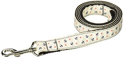 Ribbon Anchors Leash Nylon (Mirage Pet Products Anchors Nylon Ribbon Leash for Pets, 1-Inch by 4-Feet, White)