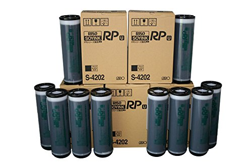 Digital Duplicator Ink - 10 Riso S-4202 Ink Tubes, for Risograph Digital Duplicators