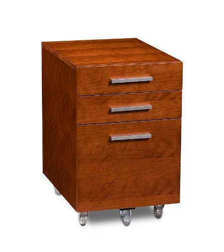 BDI Sequel Low Mobile Pedestal 6007 - Natural Stained Cherry (Bdi Cabinet Cherry)