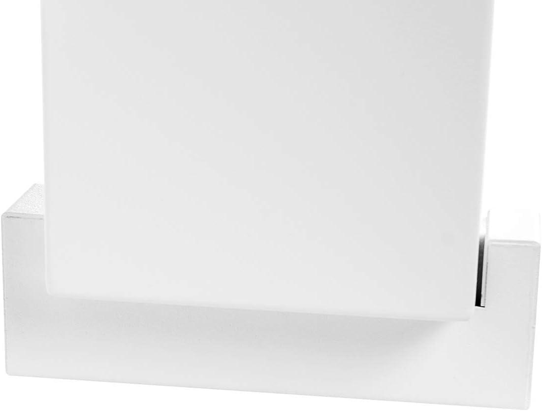 Un biocamino Box autoportante 90 x 40 cm con pannello in vetro 900 x 400 mm camino bio-etanolo bianco Un camino biologico a forma di cassetta pu/ò essere appeso alla parete.