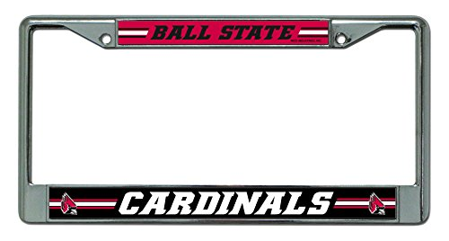 NCAA Ball State Cardinals Standard Chrome License Plate Frame