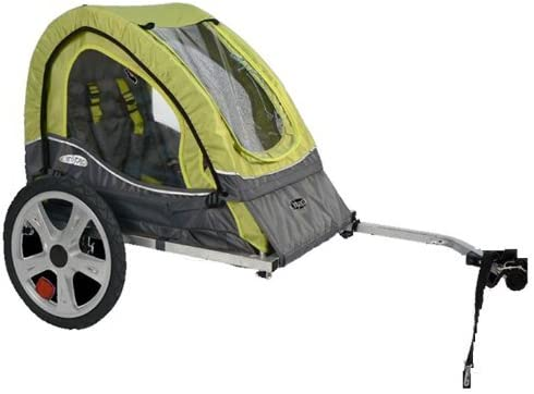 Pacific Cycle InStep Sync Single Bicycle Trailer, Green Gray Renewed