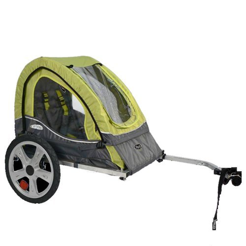 Pacific Cycle InStep Sync Single Bicycle Trailer, Green/Gray (Renewed) by Pacific Cycle (Image #3)