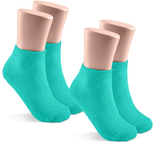 - JRP 2 Pack Soft Cotton Crew Socks for Babies, Toddlers, Boys and Girls - Jade - Size 6-7