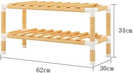 Gabinete de Almacenamiento de Calzado Estante para zapatos de madera de múltiples capas, estante de almacenamiento simple, apilable, diseño multifuncional (color de madera original) (tamaño : S) : Amazon.es: Hogar