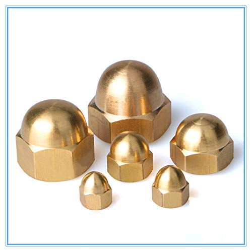 10Pcs M3 M4 M5 M6 M8 Brass Cap Hex Nuts Decorative e Head Cover Semicircle Acorn Nut M5