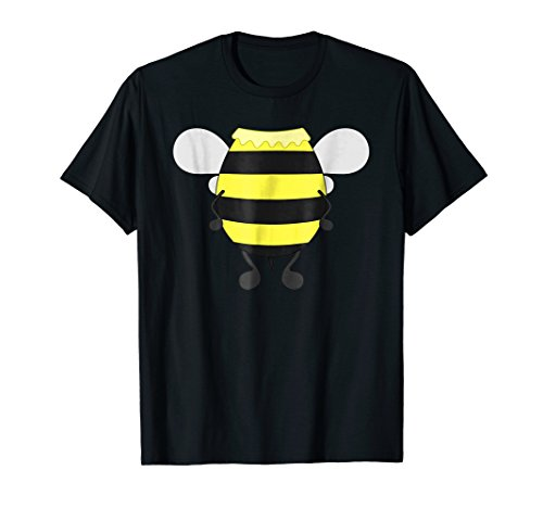 Mens Funny Bee Costume Easy Shirt - Honeybee Halloween Cheap Gift Large Black