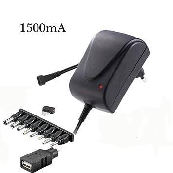 Cargador universal adaptador con selector rotativo 1500MA DE ...
