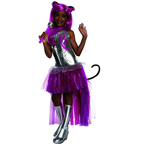 [Rubies Monster High Frights Camera Action Catty Noir Costume, Child Large] (Cheap Tween Costumes)