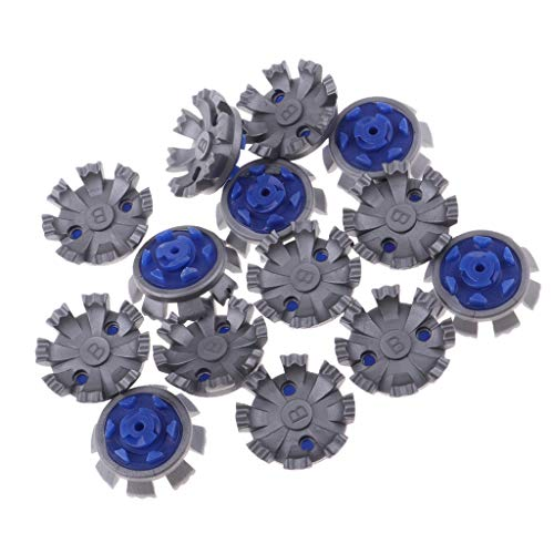 CUTICATE Golf Shoes Spikes, Soft Rubber Golf Shoes Pins Fast Twist Spikes Cleats, Anti=Slip Pins Flexible Feet Stand Replacement Studs- Dusty Blue ()