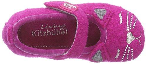 Living Kitzbühel Katze und Glitzer Mädchen Flache Hausschuhe Pink (368 fuchsia)