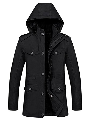 Trench amp;W Coat Black Casual M amp;S Coat Cotton Men's Outdoor Jacket Fashion Windbreaker Winter 8O5Oq7