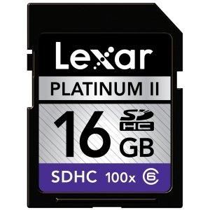 Lexar Platinum II 16 GB 100x SD/SDHC Flash Memory Card (LSD16GBSBNA100-BULK) -