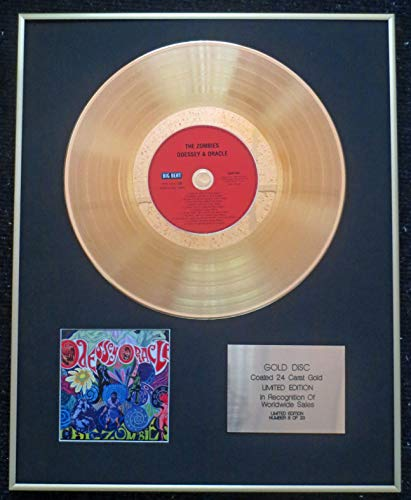 Century Presentations - The Zombies - Exclusive Limited Edition 24 Carat Gold Disc - Odessey and Oracle