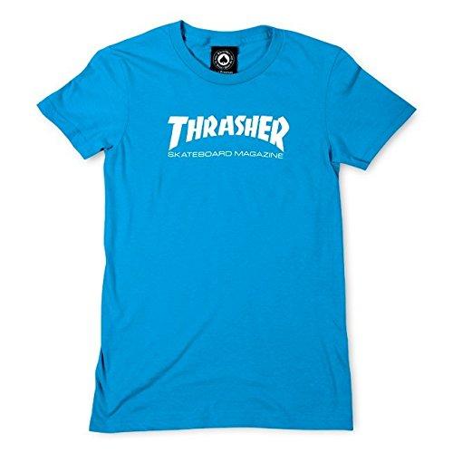 Thrasher Girls Thrasher Skate Mag T-Shirt [Large] Teal/White by Thrasher