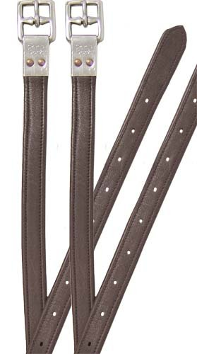 1 Inch Stirrup Leathers - Paris Tack Triple Layer  English Stirrup Leathers with Riveted Buckles- 54