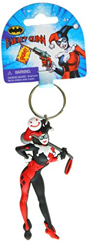 (DC Comics Harley Quinn PVC Soft Touch Figural Key Ring Action Figure)