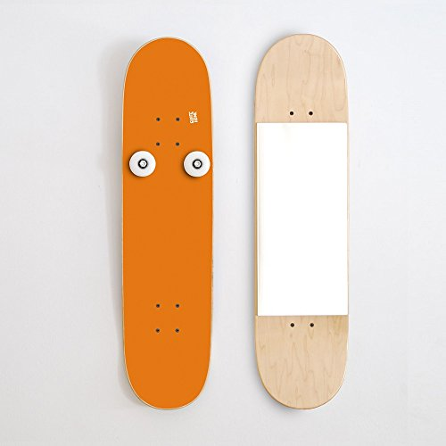Coat Rack vertical and skate mirror for skater's home - Gift idea for skaters - Orange by SKATE-HOME