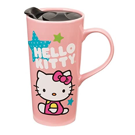 Amazon.com: Vandor 18351 Hello Kitty Estrellas 20 oz Taza de ...