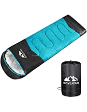 ROVEAFAR Sleeping Bag for Adults & Kids, Boys and Girls - 3 Season Warm & Cool Weather - Summer, Spring, Fall, Compact Sleeping Bags Lightweight,Camping/Hiking/Backpacking