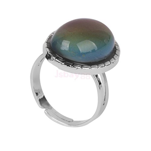 Vintage Retro 70s Oval Mood Ring Color Changeable Emotion Feeling Adjustable by ShiningLove (Image #6)