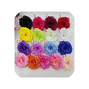 Artificial Silk Flowers Faux Gifts Roses Multi-Color Decorative Fake Flowers 15