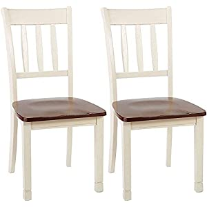 Signature Design by Ashley Whitesburg Dining Room Chair Set of 2, Brown/Cottage White