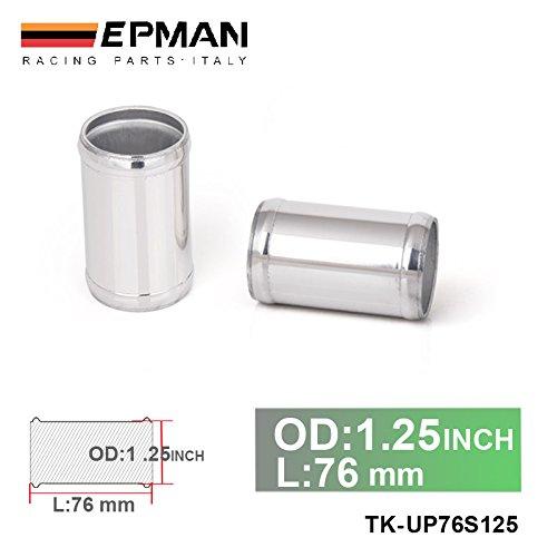EPMAN 1.25' OD X 3' Long Aluminum Racing Intake/Turbo Intercooler Piping/Hose Joiner Pipe (Silver) RUIAN EP INTERNATIONAL TRADE CO. LTD