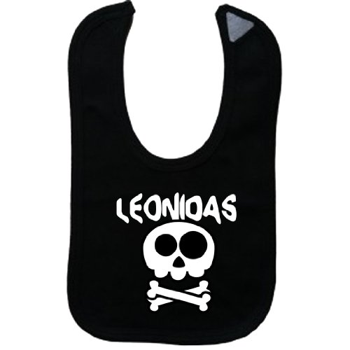 leonidas-vintage-skull-and-bones-name-series-black-bib