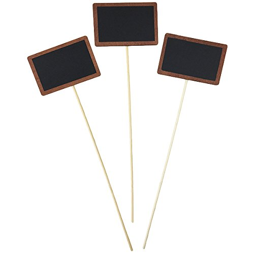 4inch Rectangle Chalkboard on Wood Stake 10pcs - Excellent Home Decor - Indoor & Outdoor