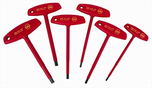 Wiha Tools 33490 Insulated Hex Inch T-Handle Set - 6 Piece