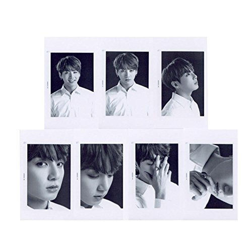 Price comparison product image Jiquan Black-and-White BTS Lomo Cards [WINGS] 7pcs/Set Kpop Bangtan Boys Official Same Photocards Set Gift for A.R.M.Y