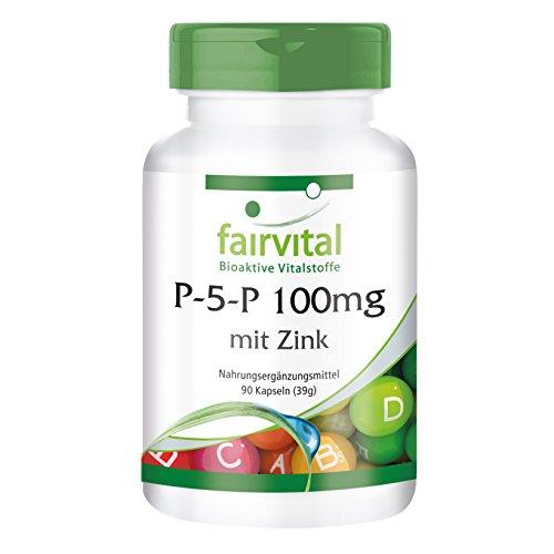 P-5-P 100mg zinc - Bulk Pack for 3 Months - Vegan - 90 Capsules - Active...