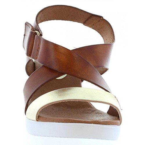 Sandalias de Mujer VAQUETILLAS 20145 METAL PLATINO